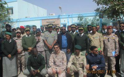 الدفعة الرابعة عشر للمدرسة الوطنية للاركان في زيارة لمناء خليج الراحة